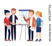 business people team project... | Shutterstock .eps vector #496109716