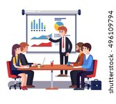 corporate business manager... | Shutterstock .eps vector #496109794