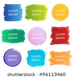 set abstract colorful grunge... | Shutterstock .eps vector #496113460