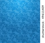 Blue Seamless Wallpaper Patter...