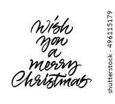 we wish you a merry christmas... | Shutterstock .eps vector #496115179