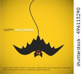 happy halloween. poster  banner ... | Shutterstock .eps vector #496115290