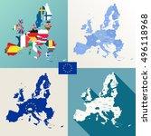 european union maps vector set | Shutterstock .eps vector #496118968