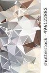randomly scattered triangles of ... | Shutterstock .eps vector #496122883