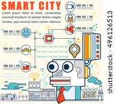 infographic smart city concept... | Shutterstock .eps vector #496126513