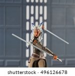 action figure of ahsoka tano in ... | Shutterstock . vector #496126678