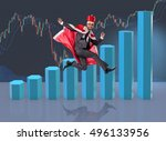 businessman dressed as king in... | Shutterstock . vector #496133956