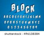 vector of stylized bold... | Shutterstock .eps vector #496138384