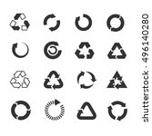 recycle icons vector set.... | Shutterstock .eps vector #496140280