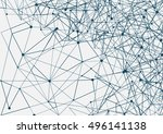 science and connection concept.... | Shutterstock .eps vector #496141138