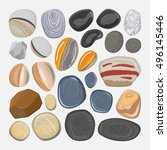 vector river stones isolated on ... | Shutterstock .eps vector #496145446