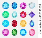 gems isolated on white... | Shutterstock .eps vector #496145554