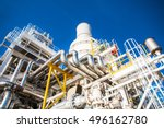 exhaust of gas turbine engine...   Shutterstock . vector #496162780