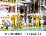 manual operate ball valve at...   Shutterstock . vector #496162786