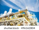 exhaust of gas turbine engine... | Shutterstock . vector #496162804