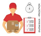 service of fast delivery.... | Shutterstock .eps vector #496167424