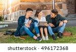 still working after the class.... | Shutterstock . vector #496172368