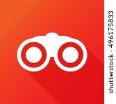 binoculars icon. | Shutterstock .eps vector #496175833