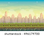 cartoon vector nature landscape ...   Shutterstock .eps vector #496179700