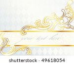 beautiful horizontal rococo... | Shutterstock .eps vector #49618054