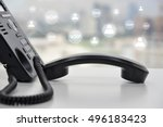 voip   ip phone technology... | Shutterstock . vector #496183423