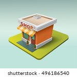 cute three dimensional detailed ... | Shutterstock .eps vector #496186540