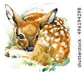 Cute Deer. T Shirt Design....