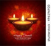 abstarct happy diwali background | Shutterstock .eps vector #496196920