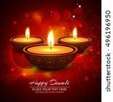 abstarct happy diwali background | Shutterstock .eps vector #496196950