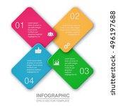 vector infographic template  4... | Shutterstock .eps vector #496197688
