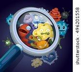microorganism  microscopic... | Shutterstock .eps vector #496201558
