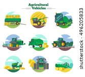 agricultural vehicles concept... | Shutterstock .eps vector #496205833