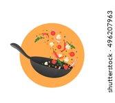 cooking process vector... | Shutterstock .eps vector #496207963