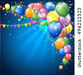 birthday background with...   Shutterstock .eps vector #496212523