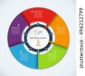 circle infographic template.... | Shutterstock .eps vector #496212799