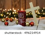 christmas background with red...   Shutterstock . vector #496214914