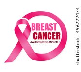 breast cancer october awareness ... | Shutterstock .eps vector #496222474