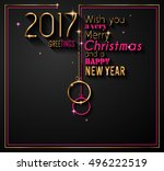 2017 happy new year background... | Shutterstock .eps vector #496222519