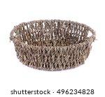 Empty Wicker Basket Isolated O...