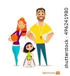 handisport. handicapped kids.... | Shutterstock .eps vector #496241980