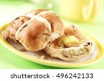 hot cross buns | Shutterstock . vector #496242133