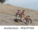 mini bicycle toy nature songkhla | Shutterstock . vector #496247560