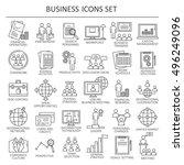 big set symbols of business and ... | Shutterstock .eps vector #496249096
