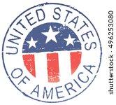 postal grunge stamp 'united... | Shutterstock .eps vector #496253080