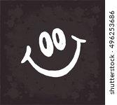 smile vector on black... | Shutterstock .eps vector #496253686
