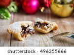 Closeup Of A Mince Pie With A...