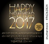 vector stylish happy new year... | Shutterstock .eps vector #496262824