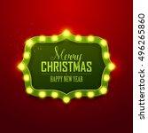 christmas background. retro... | Shutterstock .eps vector #496265860
