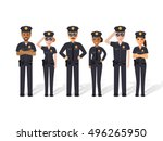Group Of Police Officers ...
