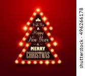 christmas background. retro... | Shutterstock .eps vector #496266178